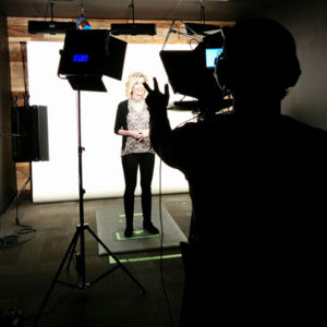Webcast shoot makeup hair